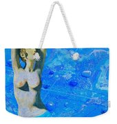 Aphrodite And  Cyprus Map Weekender Tote Bag
