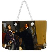Aretino In The Studio Of Tintoretto Weekender Tote Bag