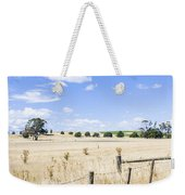 Arid Agricultural Landscape In South Tasmania Weekender Tote Bag