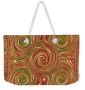 Artistic Embossed Twirl Decoration Chakra Style Unique Signature Navinjoshi Artist Created Images Te Weekender Tote Bag