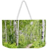 Aspen Path Impasto Weekender Tote Bag