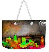 Atlanta Skyline Watercolor Weekender Tote Bag