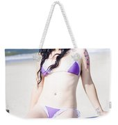 Attractive Girl On The Beach Weekender Tote Bag