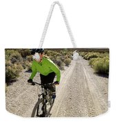 Attractive Woman Riding Her Mountain Weekender Tote Bag