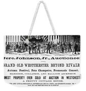 Auction Advertisement Weekender Tote Bag