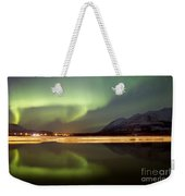 Aurora Borealis Over Nares Lake Weekender Tote Bag