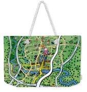 Austin Texas Cartoon Map Weekender Tote Bag