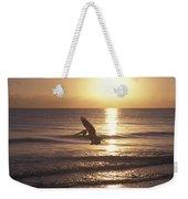 Australian Pelican Glides At Sunrise Weekender Tote Bag