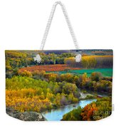 Autumn Colors On The Ebro River Weekender Tote Bag by RicardMN Photography