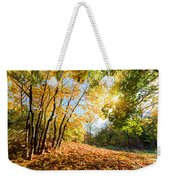 Autumn Fall Landscape In Forest Weekender Tote Bag