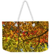 Autumn Maple Leaves Weekender Tote Bag