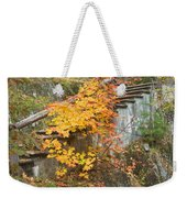 Autumn Steps Near Smalls Falls In Maine Weekender Tote Bag