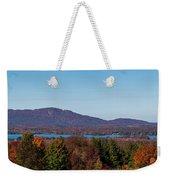 Autumn Trees At Lakeshore, Brome Lake Weekender Tote Bag