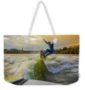 Autumn Wake Surfing Weekender Tote Bag