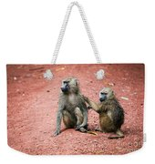 Baboons In African Bush Weekender Tote Bag