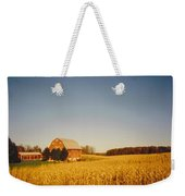 Barn And Corn Field Weekender Tote Bag