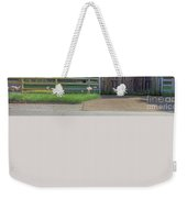 Barn By A Fence Weekender Tote Bag