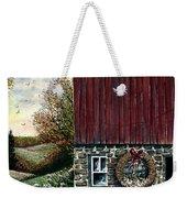 Barn Wreath Weekender Tote Bag