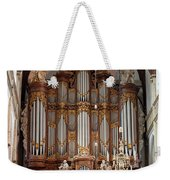 Baroque Grand Organ In Oude Kerk In Amsterdam Weekender Tote Bag