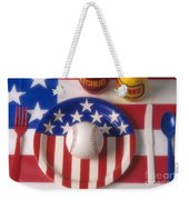 Baseball Dinner Weekender Tote Bag