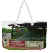 Baseball Field Burma Shave Sign Weekender Tote Bag by Frank Romeo