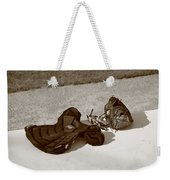 Baseball Glove And Chest Protector Weekender Tote Bag by Frank Romeo