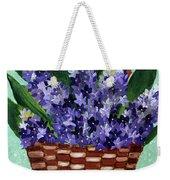 Basket Of Hyacinths  Weekender Tote Bag