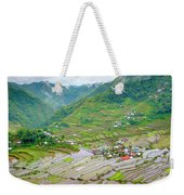 Batad Village And Unesco World Heritage Weekender Tote Bag