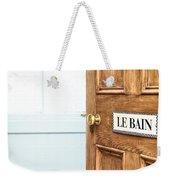 Bathroom Door Weekender Tote Bag by Tom Gowanlock