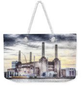 Battersea Power Station London Snow Weekender Tote Bag