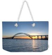 Bayonne Bridge Sunset Weekender Tote Bag