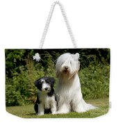 Bearded Collie And Puppy Weekender Tote Bag