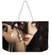 Beautiful Female Fashion Model In Luxury Jewellery Weekender Tote Bag