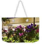 Beautiful Flowers Inside The Changi Airport In Singapore Weekender Tote Bag