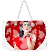Beautiful Girl In A Bright Love Romance Weekender Tote Bag