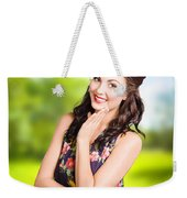Beauty Girl. Beautiful Young Woman With Clean Skin Weekender Tote Bag