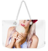 Beauty Woman With Clean Skin And Natural Makeup Weekender Tote Bag