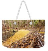 Beaver Dam In Fall Colored Forest Wetland Swamp Weekender Tote Bag
