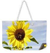 Bee On Flower Weekender Tote Bag by Les Cunliffe