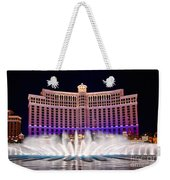 Bellagio Hotel And Casino At Night Weekender Tote Bag