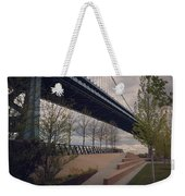 Ben Franklin Bridge Weekender Tote Bag by Katie Cupcakes