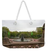 Bethesda Fountain Nyc Weekender Tote Bag