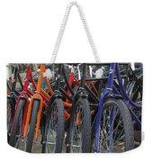 Bicycles In Amsterdam Weekender Tote Bag