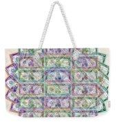 1 Billion Dollars Geometric Tan Weekender Tote Bag