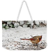 Bird In Winter Weekender Tote Bag