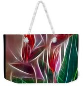 Bird Of Paradise Fractal Weekender Tote Bag by Peter Piatt