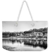 Black And White Boathouse Row Weekender Tote Bag