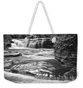 Black And White Cascade Weekender Tote Bag