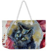 Black Cat In Gold Weekender Tote Bag