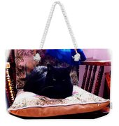 Black Cat With One White Whisker Weekender Tote Bag